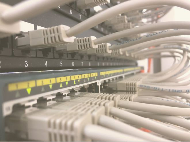 Cat6 network and data cabling