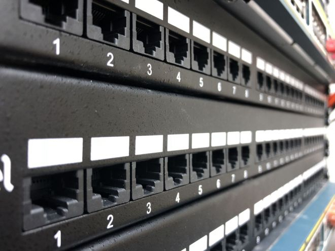 Newly installed Cat6 patch panels