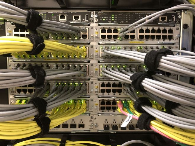 Installing a high-density network switch